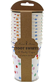 MERI MERI Toot Sweet set of 12 paper cups