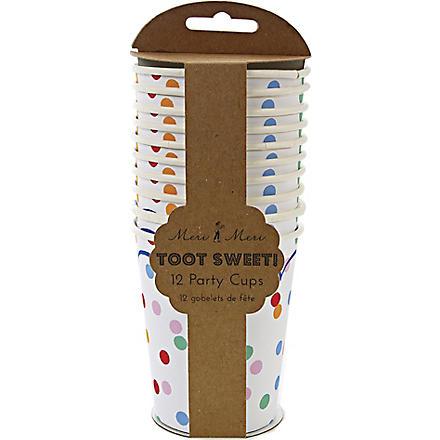MERI MERI Toot Sweet set of 12 paper cups