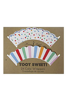 MERI MERI Toot Sweet pack of 24 cupcake wrappers