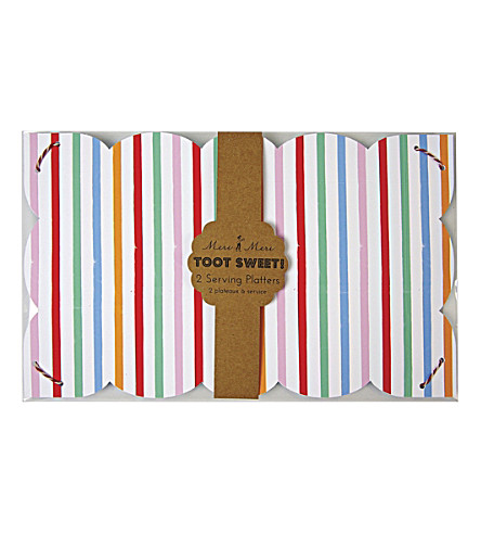 MERI MERI Toot Sweet pack of two paper platters