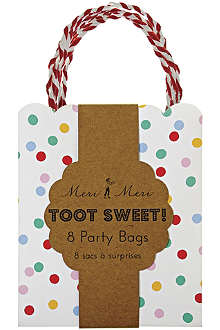 MERI MERI Toot Sweet pack of eight spotty party bags