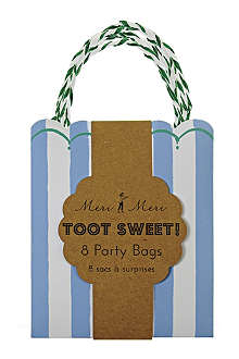 MERI MERI Toot Sweet pack of eight blue party bags