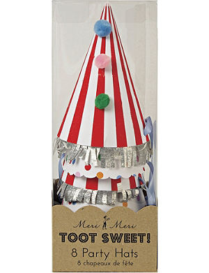 MERI MERI Toot Sweet pack of eight party hats
