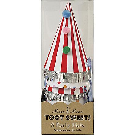 MERI MERI Toot Sweet pack of eight party hats