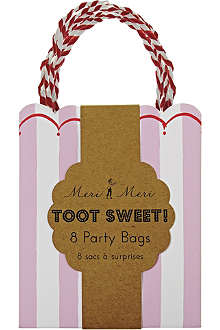 MERI MERI Toot Sweet pack of eight pink party bags