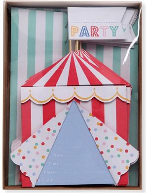 MERI MERI Toot Sweet Spotty box of eight invitations