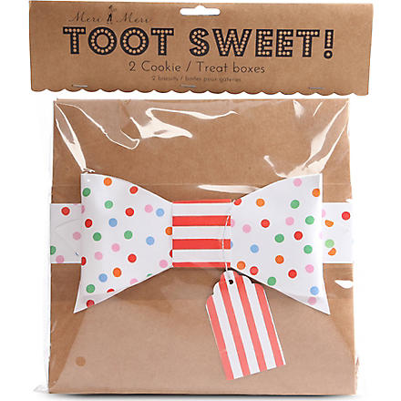 MERI MERI Toot Sweet pair of cookie treat boxes