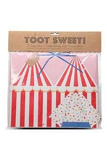 MERI MERI Toot Sweet set of three large cupcake boxes