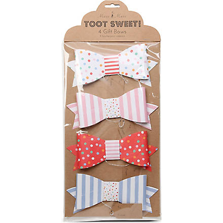 MERI MERI Toot Sweet set of four large gift bows