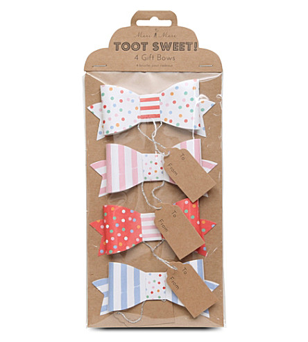 MERI MERI Toot Sweet set of four small gift bows
