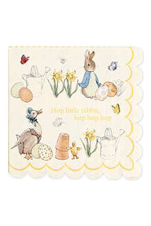MERI MERI Peter Rabbit large napkins pack of 12