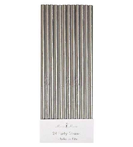 MERI MERI Silver foil paper straws pack of 24