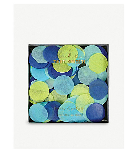 MERI MERI Toot Sweet blue party confetti