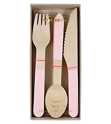 MERI MERI Toot Sweet 24-piece wooden cutlery set