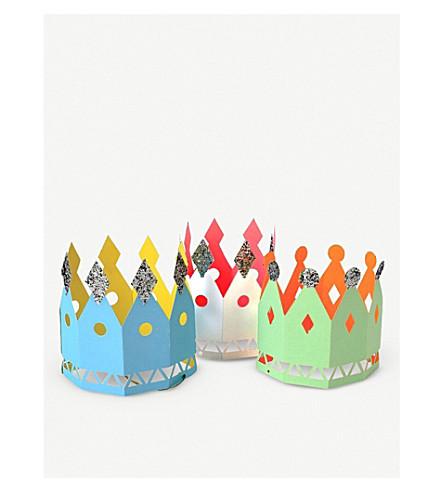 MERI MERI Paper party crowns pack of eight