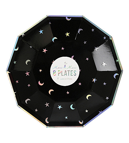MERI MERI Star & Moon plate small pack of 8