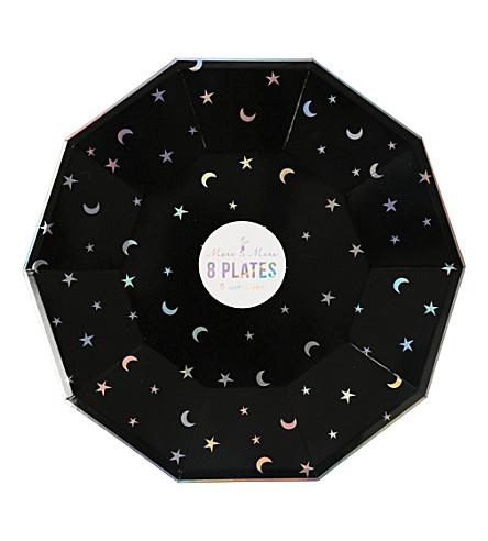 MERI MERI Star & Moon paper plate large pack of 8