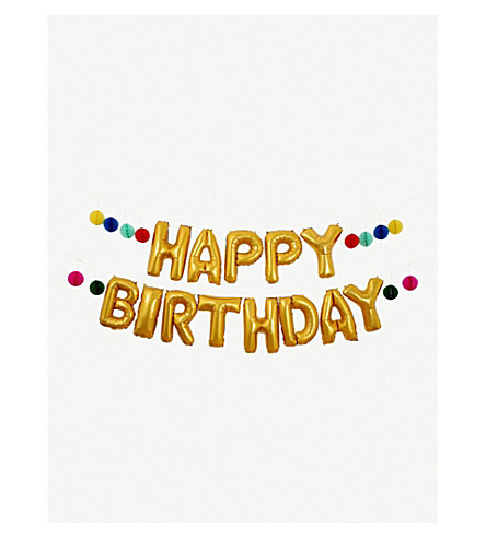 MERI MERI Happy Birthday balloon garland kit 6.1m