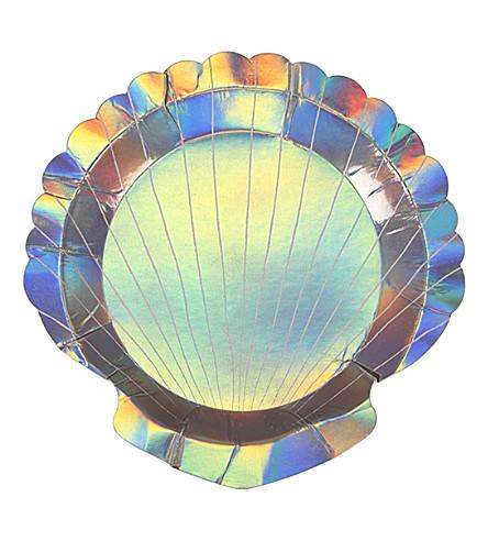 MERI MERI Shell small paper plates pack of 8