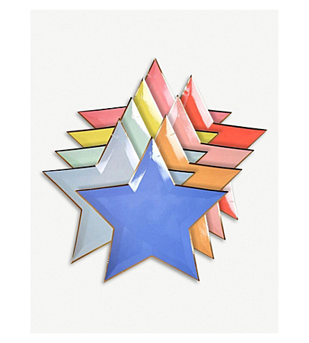 MERI MERI Jazzy star paper plates pack of eight