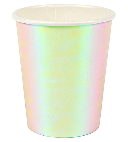 MERI MERI Iridescent paper cups pack of 8