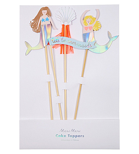 MERI MERI Let's Be Mermaid's cake toppers