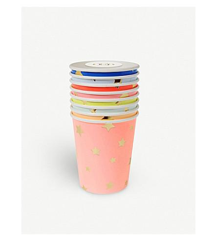 MERI MERI Star paper cups pack of eight