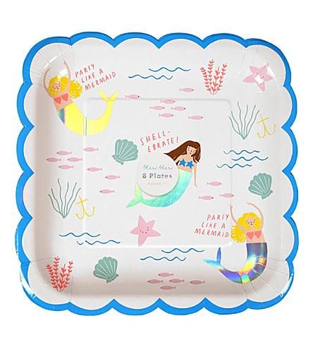 MERI MERI Mermaid print paper plates