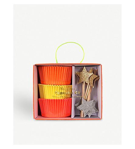 MERI MERI Neon and star cupcake kit
