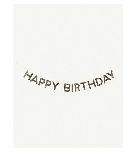 MERI MERI Glittered Happy Birthday garland