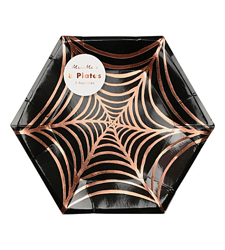 MERI MERI Cobweb paper plates small pack of 8