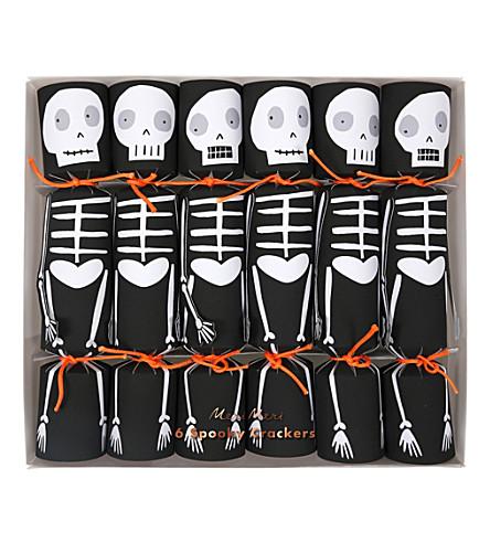 MERI MERI Spooky Skeleton crackers pack of 6