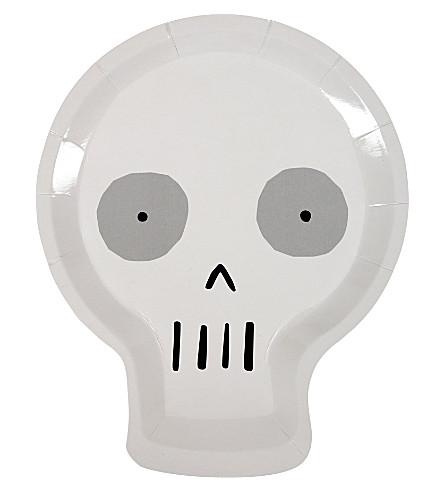 MERI MERI Skull plates 12-pack