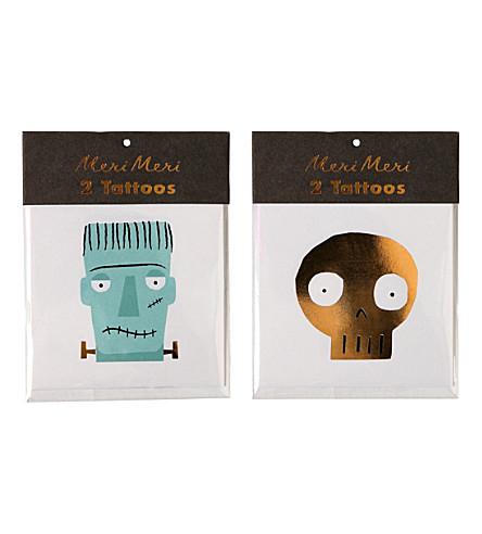 MERI MERI Monster and skull temporary tattoos
