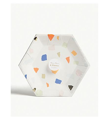 MERI MERI Terrazzo paper plates pack of eight
