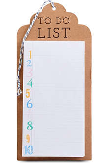 MERI MERI Kraft To Do List shopping list