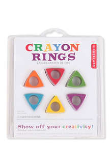 KIKKERLAND Set of six crayon rings