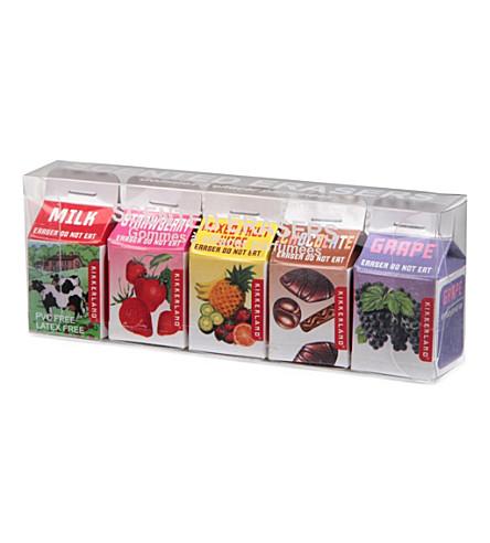 KIKKERLAND Scented erasers pack of five