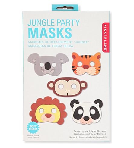 KIKKERLAND Set of five jungle party masks