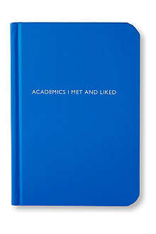 ARCHIE GRAND 'Academics I met and liked' notebook