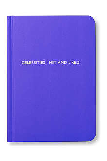 ARCHIE GRAND 'Celebrities I met and liked' notebook