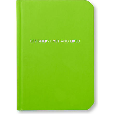 ARCHIE GRAND 'Designers I met and liked' notebook