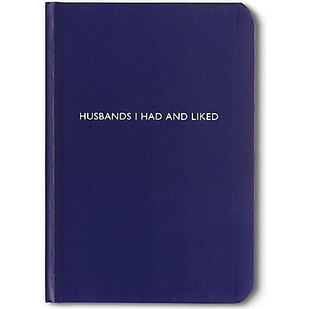 ARCHIE GRAND 'Husbands I had and liked' notebook