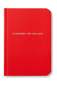 ARCHIE GRAND 'Londoners I Met and Liked' notebook