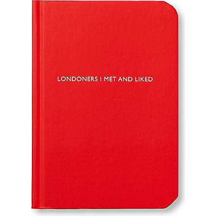 LIME INTERNET 'Londoners I Met and Liked' notebook