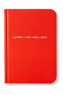 ARCHIE GRAND 'Lovers I had and liked' notebook