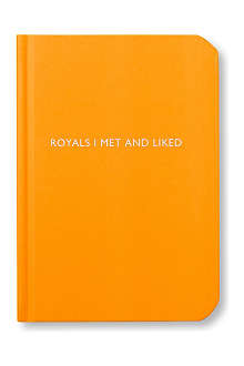 ARCHIE GRAND 'Royals I met and liked' notebook
