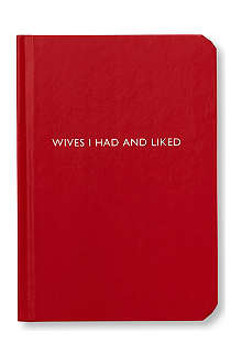 ARCHIE GRAND 'Wives I had and liked' notebook