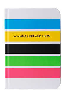 'Winners I met and liked' notebook