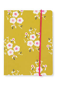 A6 tulip garden notebook